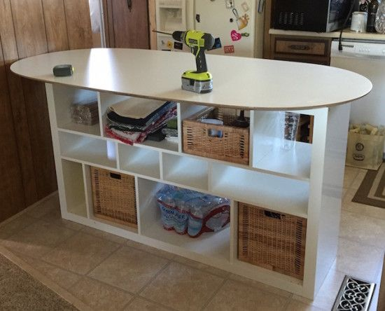 Sl hult table top expedit shelf unit kitchen island craft ideas diy tips pinterest - Ikea island ideas ...