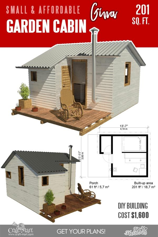 13 Best Small Cabin Plans With Cost To Build Craft Mart Building A Small Cabin Small Cabin Plans Cabin Floor Plans