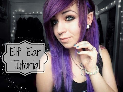 ▶ Elf Ear Tutorial - YouTube.. wow this is super easy, gotta try it, hopefully it looks good!