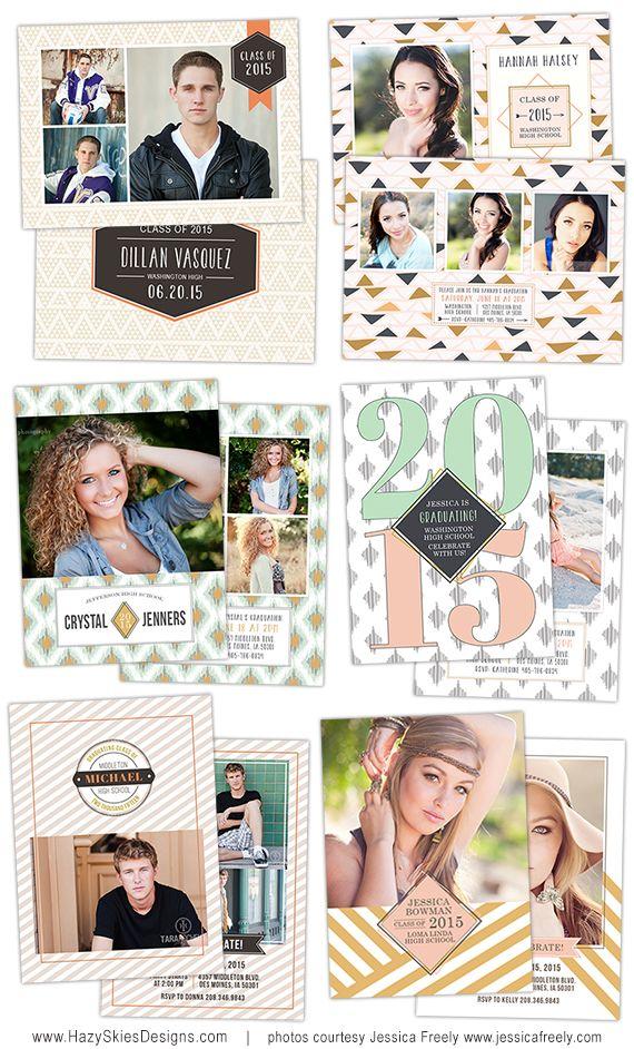 senior graduation photo card template for photographers senior templates photoshop digital
