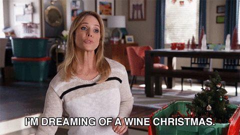 christmas drink wine holidays booze cheryl hines zorn son of zorn sonofzorn edie grafelnik happy grafelnik im dreaming of a wine christmas #humor #hilarious #funny #lol #rofl #lmao #memes #cute