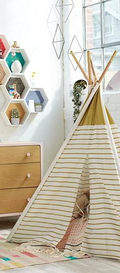 a teepee to call your own gold metallic - Metallic Kids Room Interior