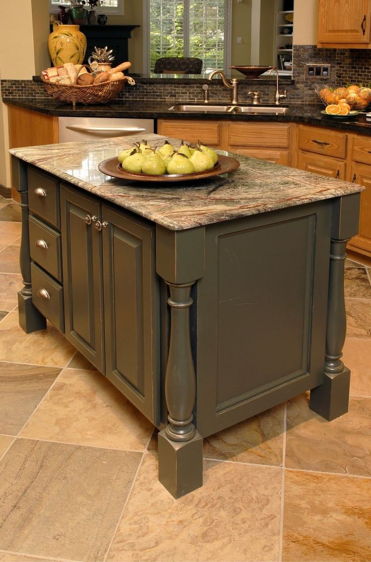 """Kitchen Islands That Match Oak Cabinets """"Your eye sees ..."""
