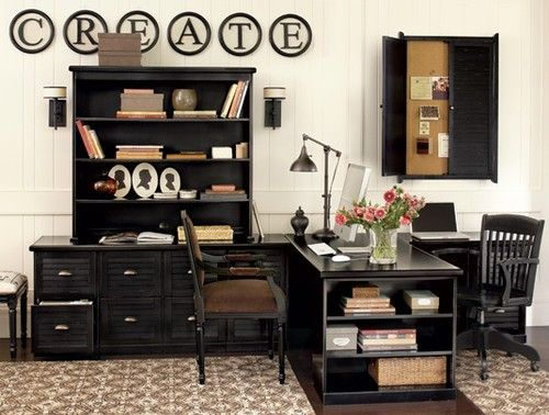 Shared Home Office Or Two Different Work Areas: One For School; One For  Crafts