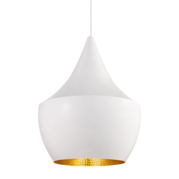Been glancing at these in a new bistro just around my corner, and they look great! Black or this white Beat pendant light by Tom Dixon.