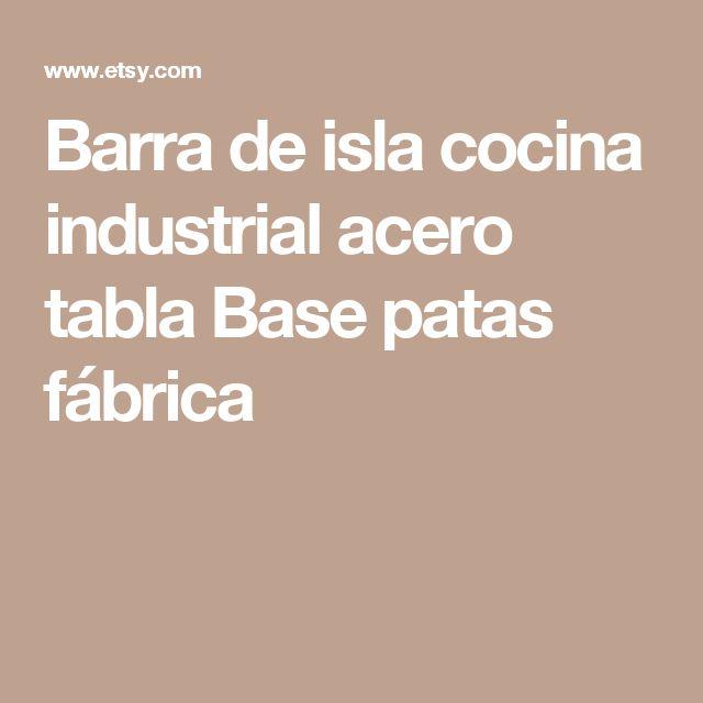 Barra de isla cocina industrial acero tabla Base patas fábrica