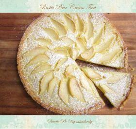「アマレット風味の洋梨クリームタルト」*mimi* | お菓子・パンのレシピや作り方【corecle*コレクル】