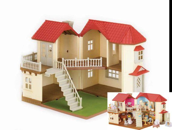 Calico Critters Luxury Townhome Beechwood Hall Diy Wallpaper