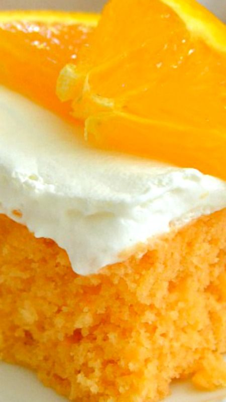 Skinny Orange Creamsicle Cake ~ Bursting with juicy orange and sweet cream flavor, it's a classic that's been lightened-up to a figure-friendly recipe.