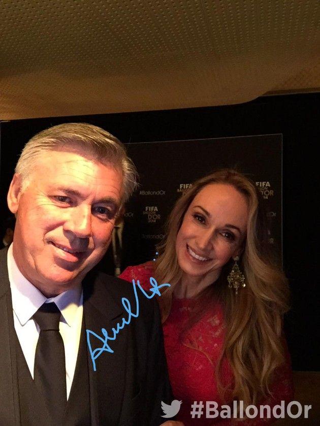 Carlo Ancelotti & Mariann Auger