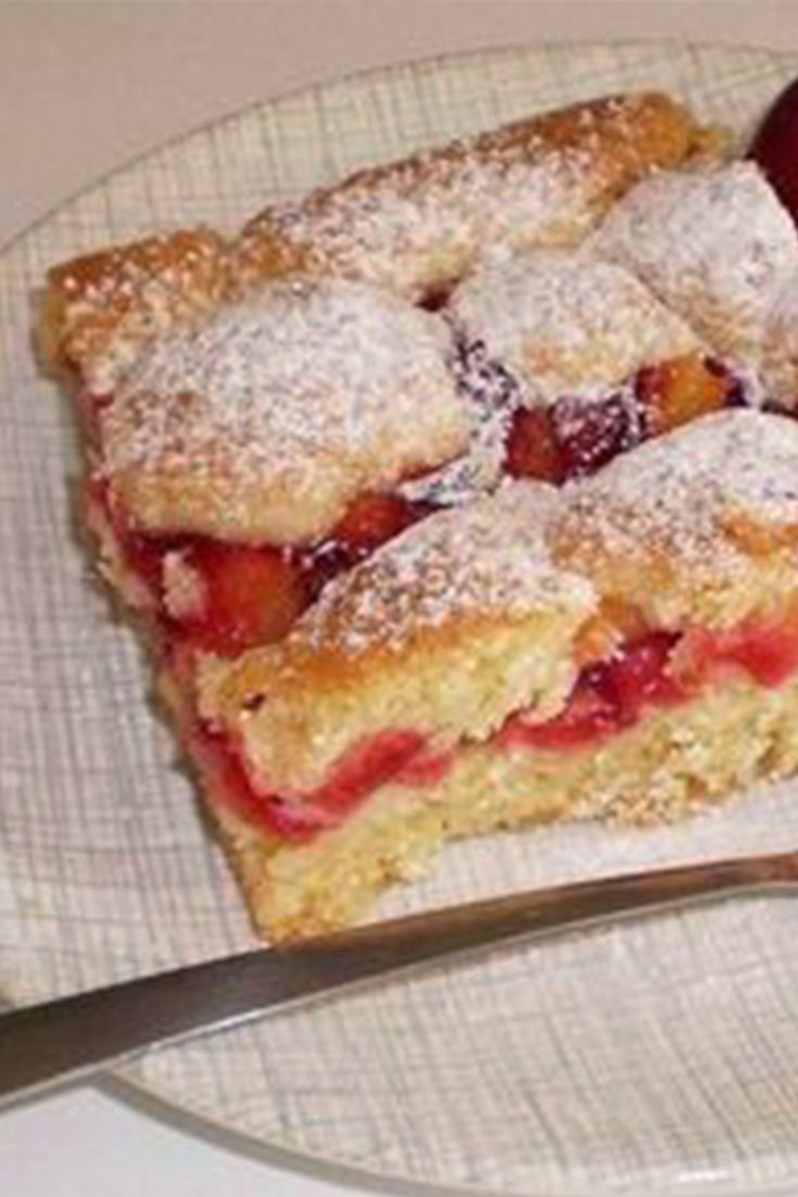 A berry delicious and moist yoghurt cake.