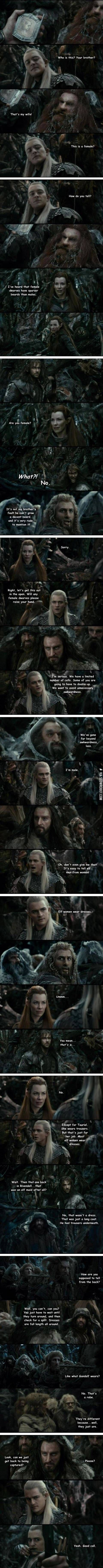 The Hobbit and gender.