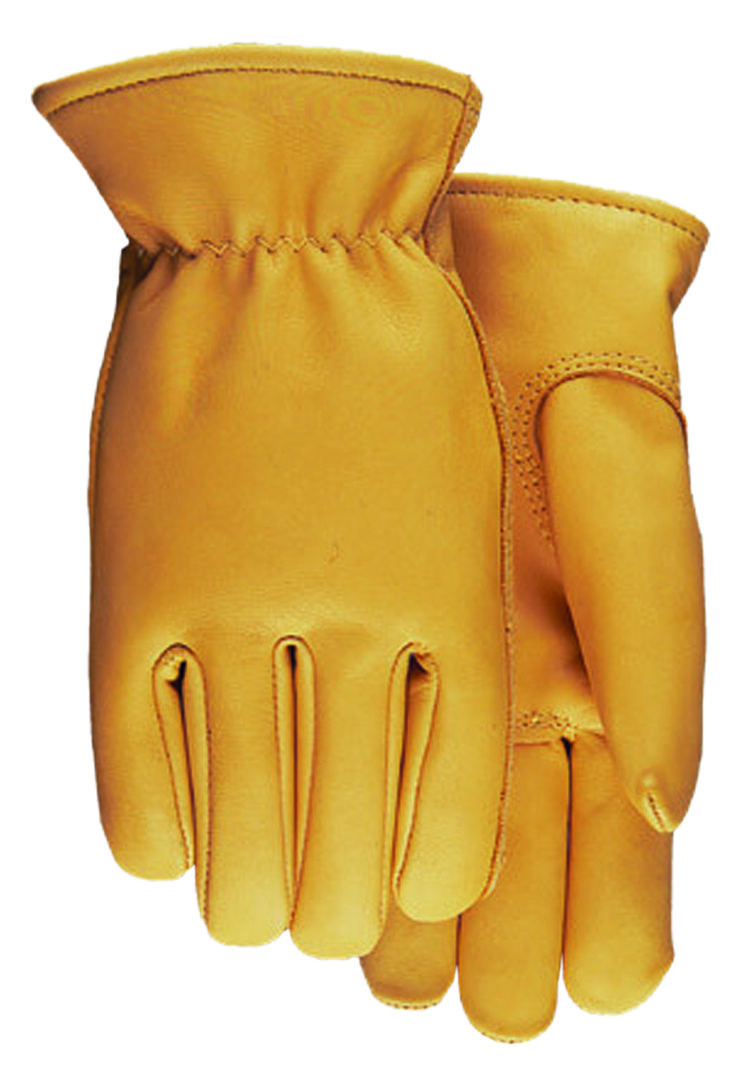 Leather work gloves made in the usa - Smooth Grain Saddletan Leather