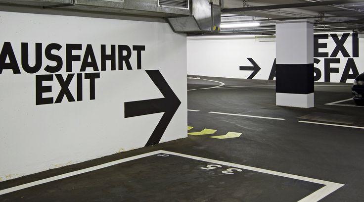 168 best car parks and basement signage images on - Mmz architekten ...