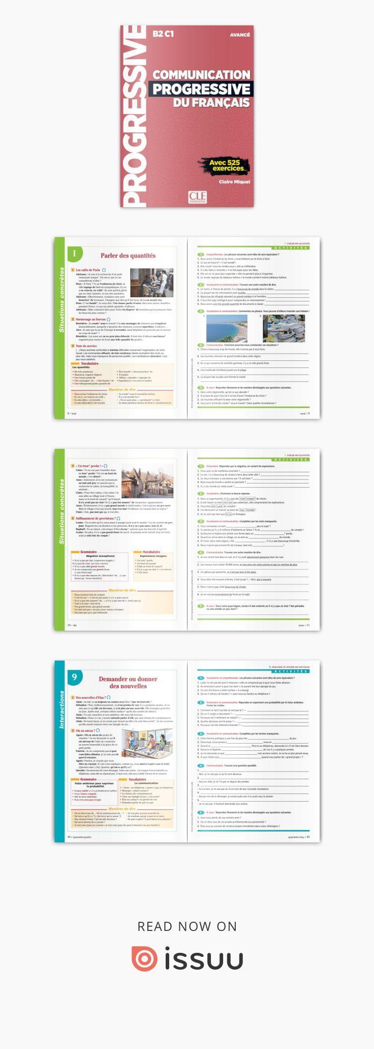 Extrait de Communication progressive du Français - En parcourant ces pages vous aurez un aperçu de l'ouvrage, et vous pouvez bien sûr zoomer pour vous déplacer dans le document. Bonne découverte !
