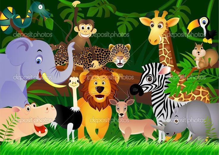 dessin animaux de la jungle | illustration animaux de la jungle (6) , provenance de la photo : fr ...