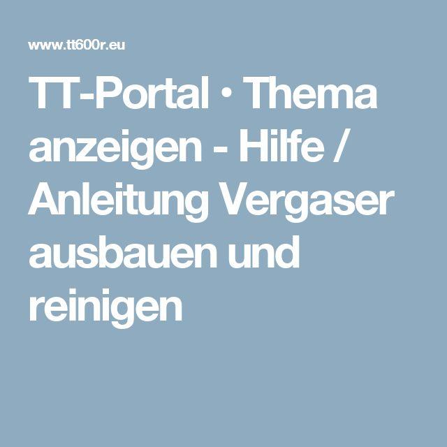TT-Portal • Thema anzeigen - Hilfe / Anleitung Vergaser ausbauen und reinigen
