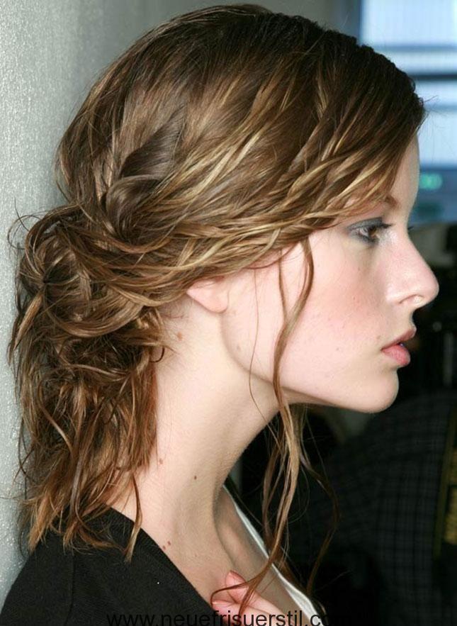 Nasse haare und dutt