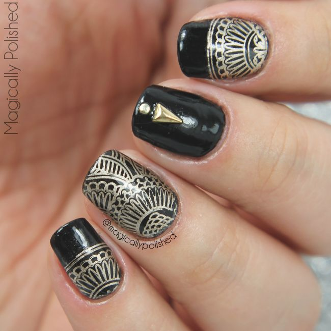 Born Pretty Elegant Flower Nail Art Stamp Plate Review Nails In 2018 Pinterest And Stamping