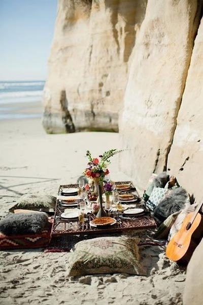 Beach #picnic. With guitar. Yes!
