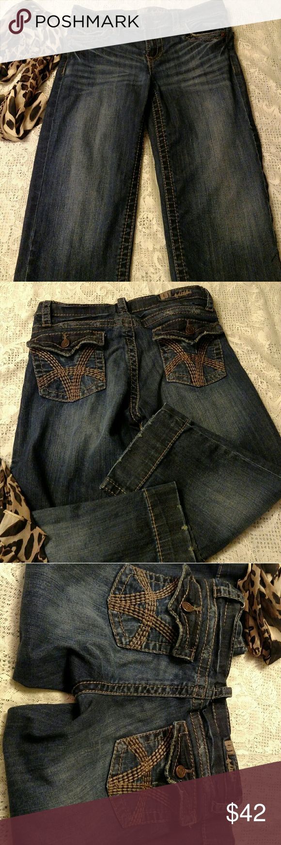 KUT from the kloth Jean Capris ADORABLE KUT JEAN CAPRIS.  Size 2.  Distressed look.  Approximate measures are noted in the pictures above.  Pre-loved but in excellent shape. Kut from the Kloth Jeans Ankle & Cropped