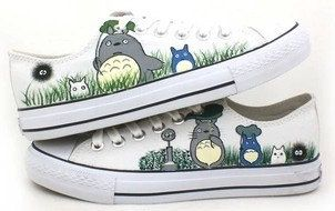 My Neighbor Totoro anime Shoes Converse by custompaintedshoe, $59.00
