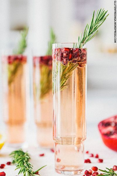 Pomegranate Rosemary Spritzer with Prosecco | A House in the Hills