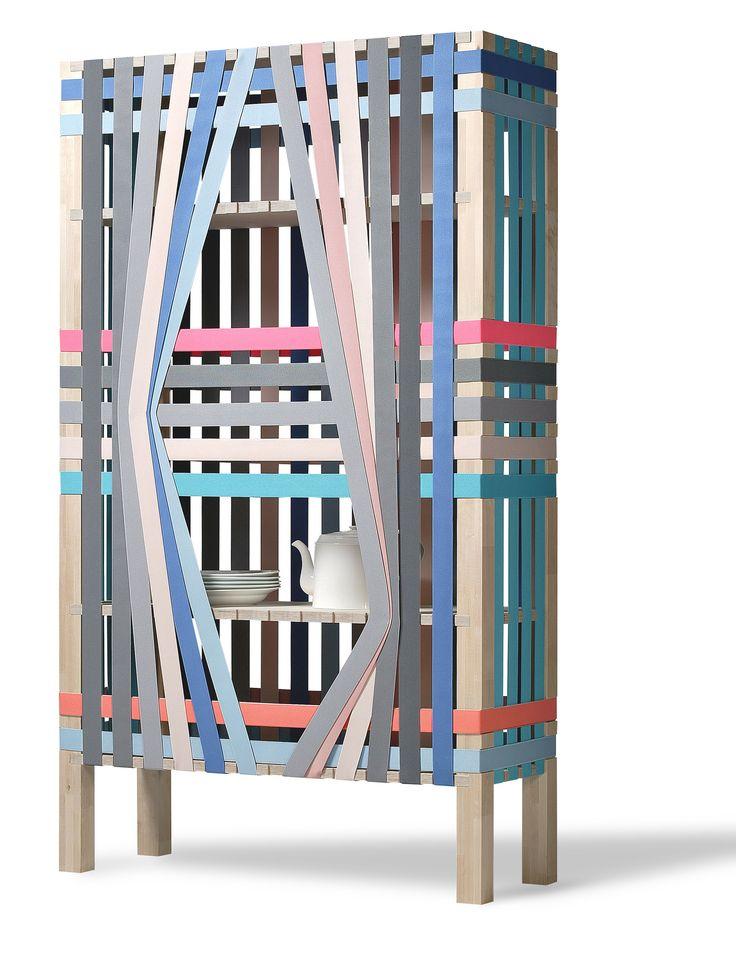 Soh Eun-Myung, The Lines, 2014. Bois, bandes élastiques. Courtesy Musée des Arts déco © Soh Eun-myung