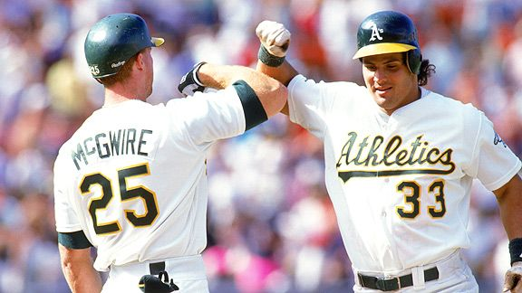 The Bash Brothers: Mark McGwire  Jose Canseco