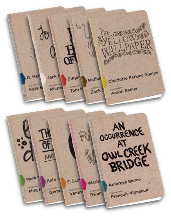 make your own books- moleskin journals, color dots, lots of marker doodles & a story.: Covers Collection, Minis Books, American Shorts, Covers Books, Notebooks Design, Shorts Stories, Penguins Books, Notebooks Covers Ideas, Illustrations Shorts