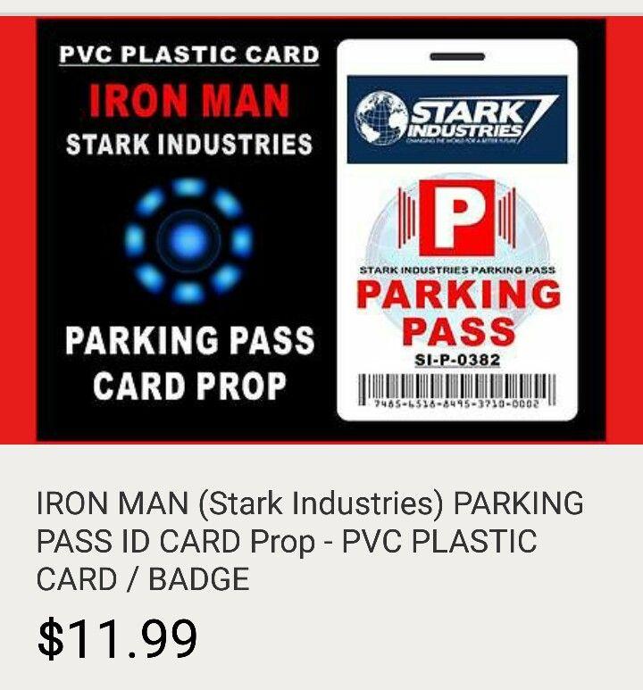 """Iron Man, Parking """"Party"""" Pass"""