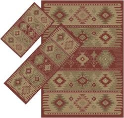@Overstock.com - This set of three red southwestern rugs are sure to blend with natural decor as they guard your floors from damage.