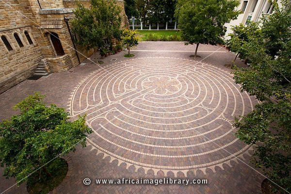 Photos and pictures of: Siyahamba Labyrinth, St George's Cathedral, The Company's Garden, Cape Town, South Africa | The Africa Image Library