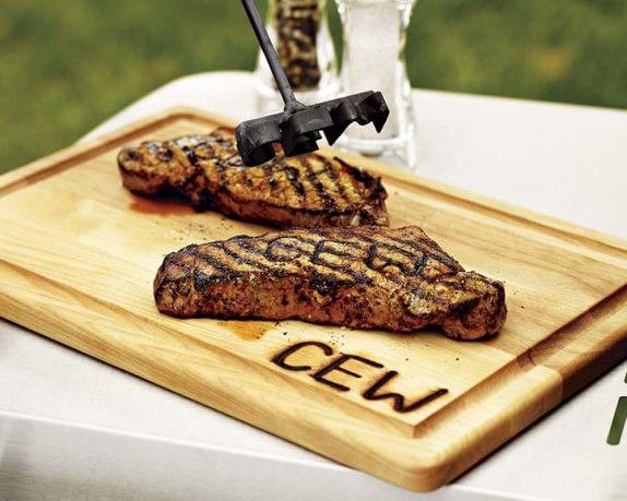 Monogrammed Steak Brand & Carving Board   Williams Sonoma