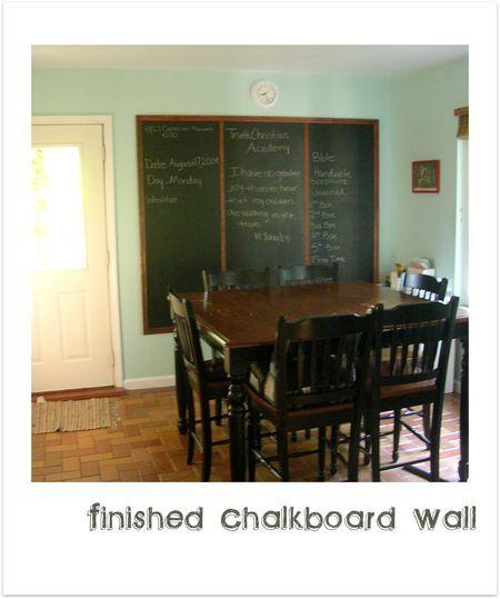 how to make a framed chalkboard for kitchen