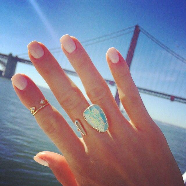 Kendra Scott Aussie Open Ring in Aqua Kyocera Opal