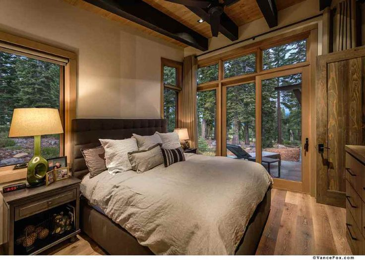 Modern mountain retreat is ideal place to unwind rustic for Mountain modern bedroom