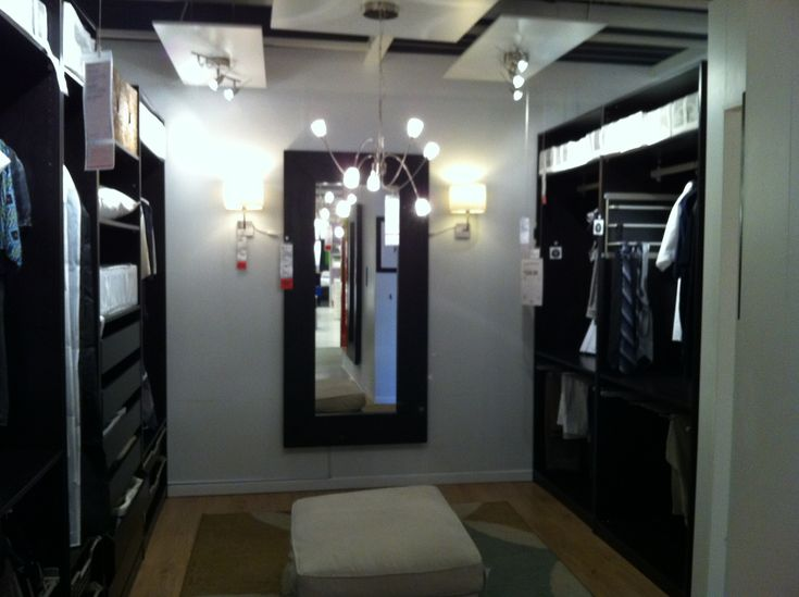 Superbe Master Closet   IKEA Dark Brown With Light Fixture