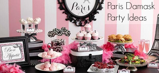 Paris Damask Party Ideas