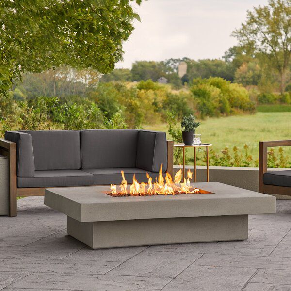 Alazhia Concrete Propane Fire Pit Table In 2020 Propane Fire Pit Table Fire Pit Table Outdoor Propane Fire Pit