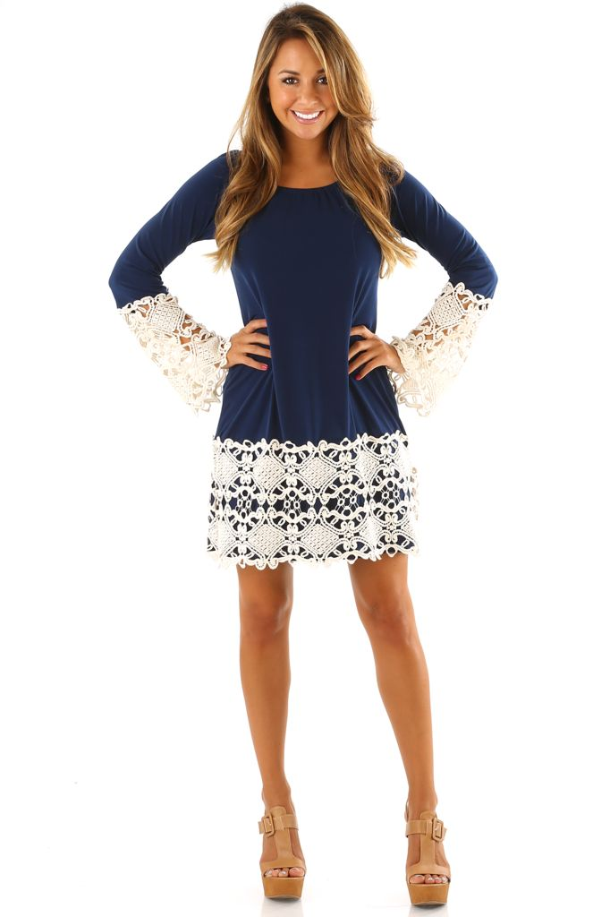 Judith March: We're Singing Your Song Dress: Navy/Cream