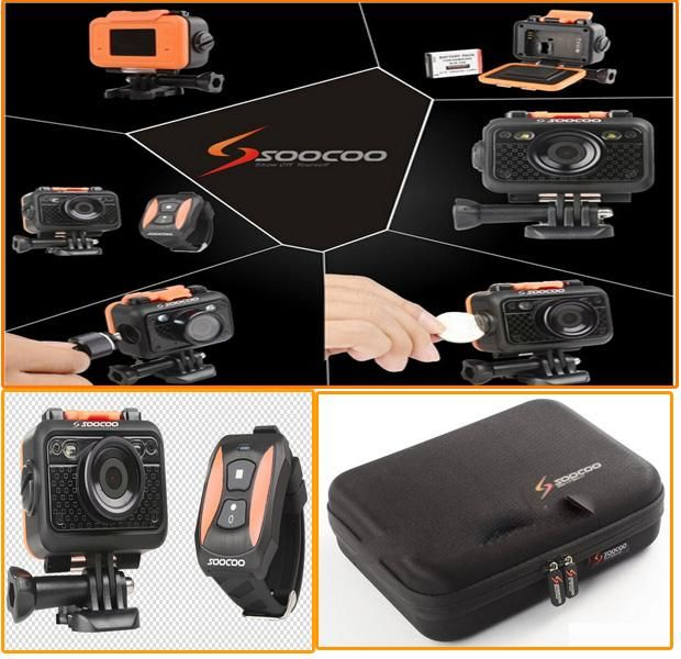 Sports Camcorde Anti-Shock Waterproof Wifi Sport Action Camera 170 Degree Lens Original Soocoo S60 1080P HD Video Camera with Remote Control
