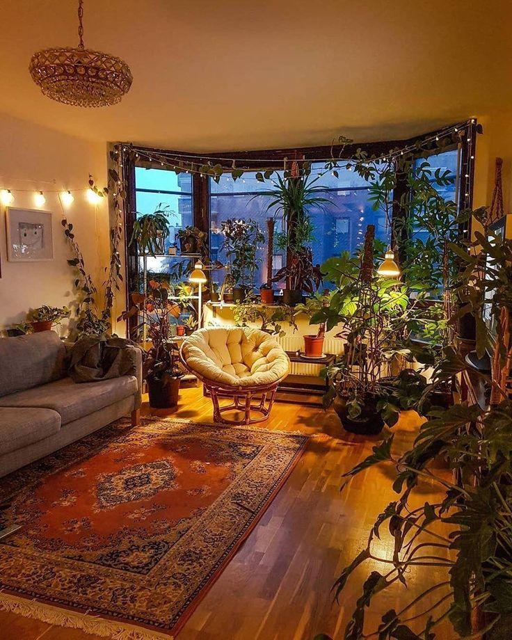 Cozy Modern Boho Room | Plant decor indoor, Aesthetic room ...