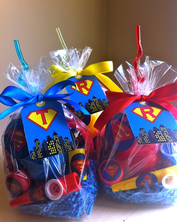 Superhero favors. $6.80, via Etsy.