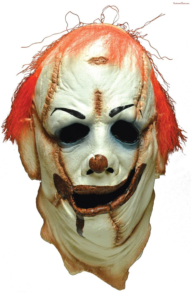 Clown Skinner Face Mask Scary clown mask, Scary clowns