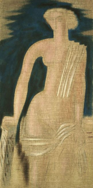 kaufen Gemälde'Figur aus der griechischen Antike (diptych)' von Konstantinos Parthenis - Kaufen Sie eine handgemalte Ölreproduktion , Kunstreproduktion, Ölgemäldereproduktionen, Kunst auf Leinwand, Kunstwerksreproduktion, Leinwand Ölgemälde Reproduktion Kunstwerk