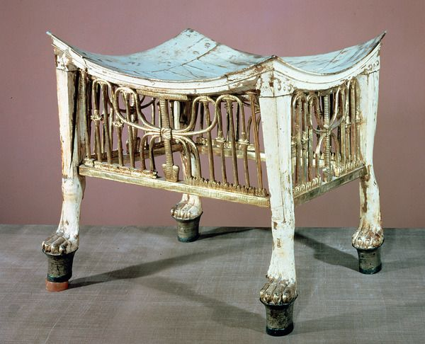 Footstool used by the child-king at the beginning of his reign, from the tomb of Tutankhamun (c.1370-52 BC) New Kingdom