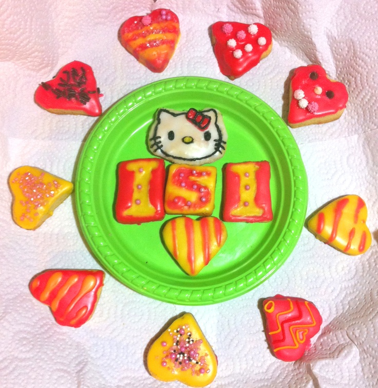 Cookies for our friend Isi! She's Hello Kitty crazy...