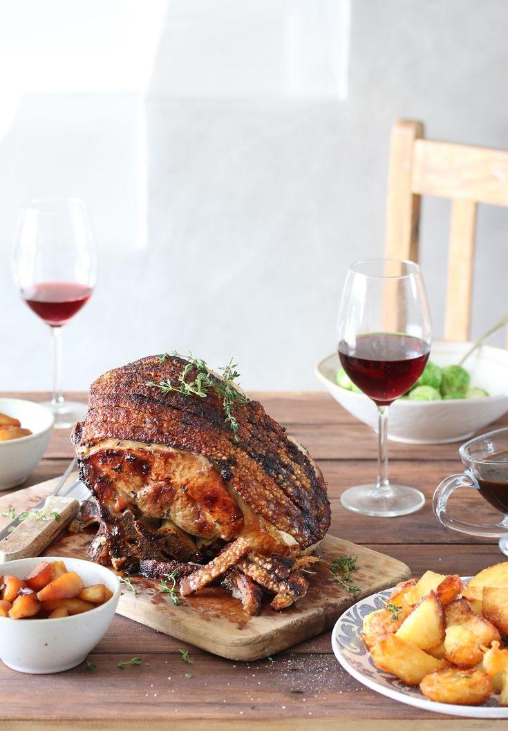 Roast Leg of Pork, Hanepoot Apples and Crispy Duck Fat Potatoes