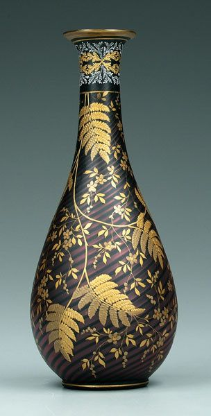 Mother-of-pearl gilt decorated vase,
